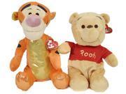 "10"" Winnie the Pooh Tigger Plush 2 Pack Set Ty Disney Beanie Buddies Toys Dolls"