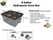 8-Gallon H2OtoGro® Hydroponic Bubbler Deep Water Culture Grow System ~ Grow herbs, flowers, fruits and vegetables all year round!