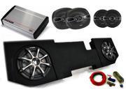 """Kicker Dodge Ram Quad / Crew Cab 02-15 - Dual 10"""" CompRT subs in box, KS Speakers, 800 Watt KX Amp, Grilles & Wire Kit"""