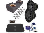 """Kicker GMC 99-06 Sierra CVR102 10"""" Truck Bundle with DUBA11000D 1100 Watt Amplifier + Enclosure + Wire Kit"""