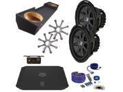 """Kicker GMC 88-98 Sierra CVR102 10"""" Truck Bundle with DUBA11000D 1100 Watt Amplifier + Enclosure + Wire Kit"""