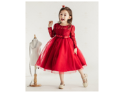 Children dress Lace girls princess dress children's wear child loaded birthday dress Evening Prom Cloth Party Dress
