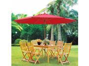 13' ft Patio Umbrella German Beech Wood Beach Yard Garden Cafe Bar Outdoor
