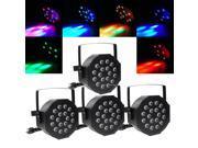 4pcs 18x 1w RGB LED Par Light DMX Night Club Wedding Party Disco Stage Lighting