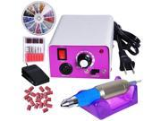 Professional Electric Acrylic Nail Drill File Machine Kit with Bits Manicure Set