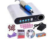30,000RPM Nail Drill Kit Manicure Art Machine File 6 Bits Acrylic Bands Electric