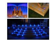 Deck Light Decor Commercial Outdoor Romantic Stair Lamp Blue Hotel Garden Lamp
