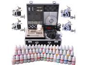 Complete Tattoo Kit 54 Color Ink 4 Machine Guns Set LCD Power Supply Equipment 9SIA8SK3YP9126