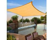 12'x12' Square Sun Shade Sail UV Outdoor Canopy Patio Lawn Rectangle w/Free Rope