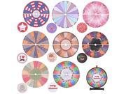 WinSpin™ 8 Pcs 24 Prize Wheel Template Background Replacement 8 Holiday Christmas