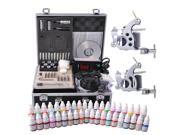 Complete Tattoo Kit 40 Color Ink 2 Machine Guns Set LCD Power Supply Equipment 9SIA8SK4YG3017