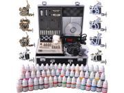 Complete Tattoo Kit 54 Color Ink 8 Machine Guns Set LCD Power Supply Equipment 9SIA8SK3YP9119