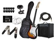 California Classic Sunburst Guitar with Gig Bag and 20-Watt Amp, Tuner, Strap, Cable, Picks, and Replacement Strings