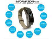 Smart Bracelet K2 Wristband Bluetooth Watch 2 in 1 Stereo Headphone Headset Dual mode Sleep Monitor Smartwatch - Gold