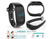 Powerful Fitness JW018 Heart Rate Wristband Smart Band Monitor Charge Hr Rate Tracker Smartwatch Wearable Devices - Blue
