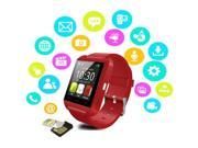 Bluetooth SmartWatch Pedometer Silicone Wristband for Android/iOS (Color: White)