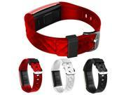 S2 Bluetooth 4.0 Smart Wristband Band Heart Rate Monitor Sport LED Smartwatch - Red