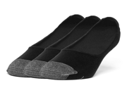 Galiva Men's Cotton Lightweight No Show Liner Socks - 3 Pairs Medium Black