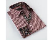 Coogi Luxe Men's White Red/ Paisley Button Down Dress Shirt 100% Cotton