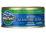 Wild Planet Wild Albacore Tuna - No Salt Added 5 oz (142 grams) Can
