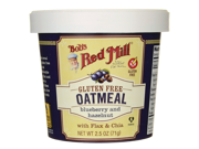 Bob's Red Mill Gluten Free Oatmeal Blueberry and Hazeln 2.5 oz (71 g) Pkg 9SIA8UA6597331