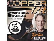 Copper Fit Unisex Sport Socks, Small/Medium, 2-Pack (One White, One Black)