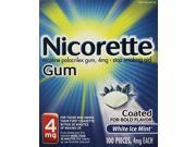 NICORETTE GUM 4 MG KIT WHT ICE 100