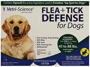 VetriScience Laboratories Flea Tick Defense for 45 to 88 Pound Dogs and Puppies 3 Doses