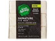 Irish Spring Signature Exfoliating Bar Soap 6oz 3 Count
