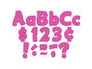 Teacher Created Resources TCR5430 Hot Pink Polka Dots 4 in. Letters Pack 9SIA8UT64H6482