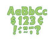 Lime Polka Dots Funtastic Font 4In Letters Combo Pack 9SIA8UT64H7104