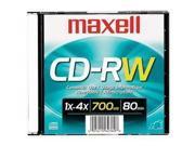 MAXELL 630010 700MB 80-Minute CD-RWs (Single)