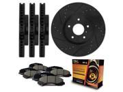 Max KT092383 [ELITE SERIES] Front + Rear Performance Slotted & Cross Drilled Rotors and Ceramic Pads Combo Brake Kit
