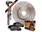 Front Premium Slotted & Drilled Rotors and Ceramic Pads Brake Kit KT118331 / Fits: 2013 13 Chevy Malibu Excl. Turbo Models 9SIA8W06MH1700