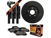 Max KT023903 [ELITE SERIES] Front + Rear OE Replacement Rotors and Ceramic Pads Combo Brake Kit 9SIA8W05Y02231