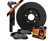 Max KT025501 [ELITE SERIES] Front OE Replacement Rotors and Ceramic Pads Combo Brake Kit