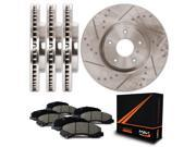Max KT007933 Front + Rear Premium Slotted & Drilled Rotors and Ceramic Pads Combo Brake Kit 9SIA8W03JX3486