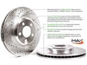 Max SY120422 Rear Cross-Drilled Rotors