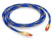 Blue Premium 2M Toslink Digital Optical Fiber Audio Cable 6.5FT OD 5.0