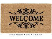 DeCoir Natural Fiber Weather Resistant 18�? x 30�? Floral Welcome Entrance Door Mat