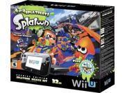 Nintendo - Wii U 32GB Console Splatoon Special Edition Bundle - Black WiiU (GAME + SYSTEM)