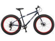 Mongoose Men's Dolomite Fat Boys Tire Cruiser Bike, Blue, 26 inch Bicycle