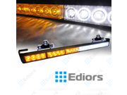Ediors 27Inch High Intensity 24 Amber White LED 13 Flash Modes Traffic Advisor Emergency Warning Vehicle Strobe Light Bar Kit With Exclusive Large Secure Suctio