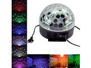 Ediors DMX512 6 LED Disco DJ 6 Color Changing Stage Lighting LED RGB Crystal Magic Ball Effect Light DMX light KTV Party Wedding Disco Ball Room