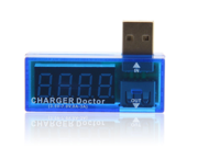 Portable KW-201 Mini USB Port Current and Voltage Meter Current Monitor Test Tool Multimeter  (Blue)