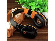 Wired/Wireless PC Gaming Headset, Megadream KOTION EACH B3505 Professional Noise Cancelling with Bluetooth 4.1/ Microphone/ Volume Control/ HiFi/ NFC for PC Computer Laptop Notebook Smartphone Orange