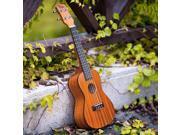 USA STOCK KUC-21 Mini Musical Hawaiian Acoustic Ukulele Four String Guitar with Bag