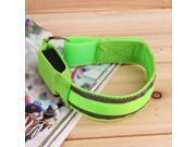 Sports Bike LED Safety Reflective Belt Strap Snap Wrap Arm Band Shine Armband