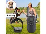 Dog Trainer Waterproof LCD 100LV 300M Remote Shock Vibrate Pet Dog Training Bark Stop Collar one dog,Different channels for 2 dogs training at the same time 9SIAFS976S0548