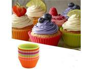 12 pcs Silicone Cake Muffin Chocolate Cupcake Liner Baking Cup Cookie Mold 9SIA9083944366
